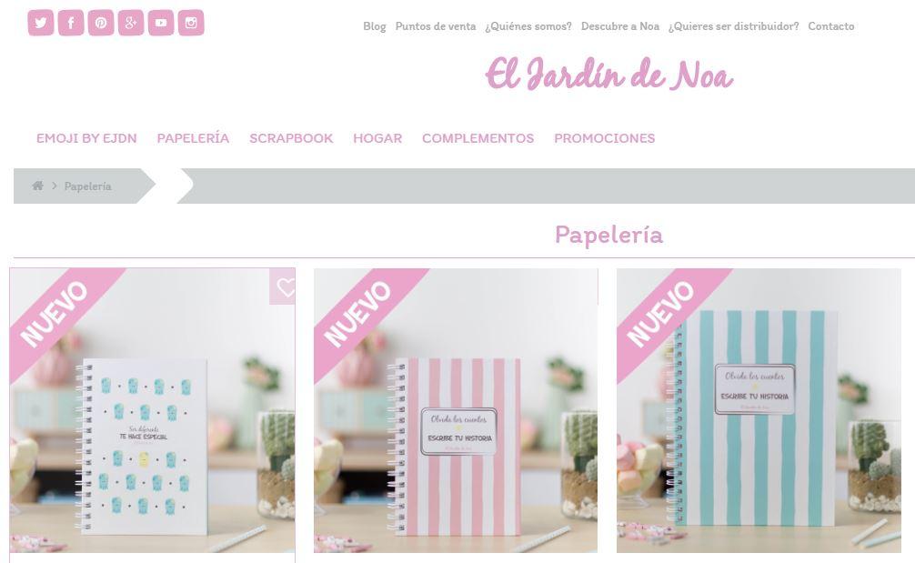 El Jardin De Noa Es Una Tienda Online De Productos De Papeleria Y