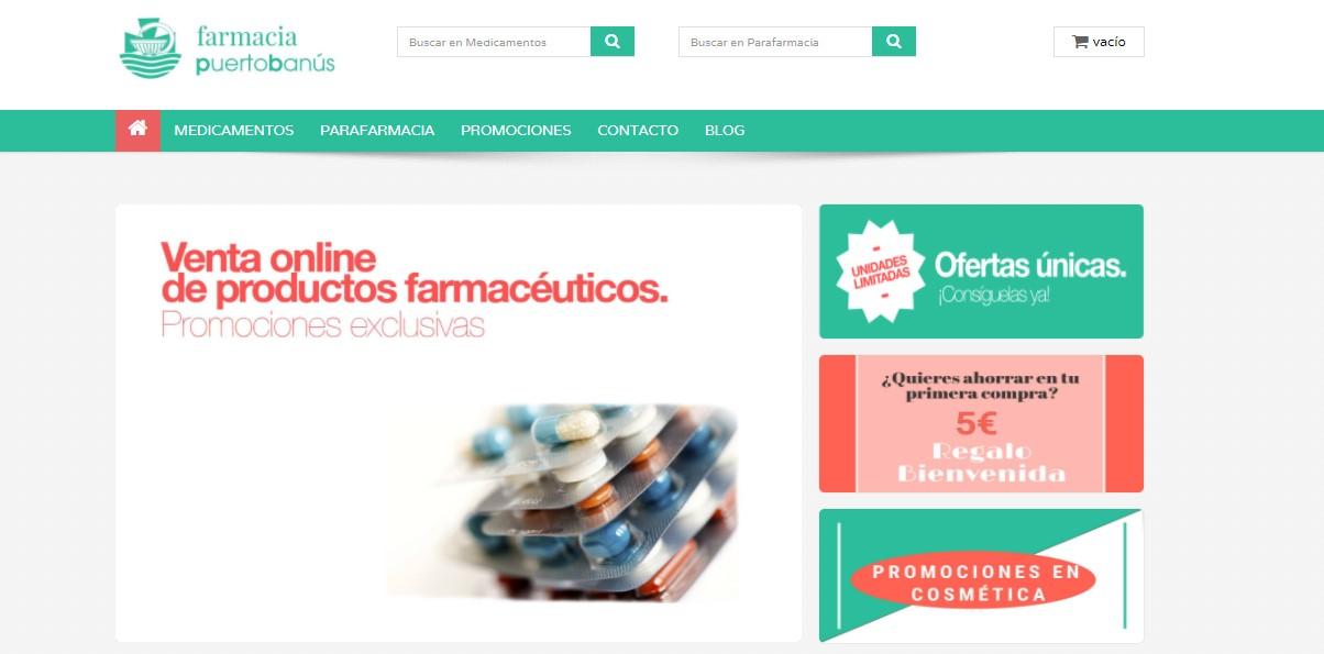 Farmacia realizada con Prestashop
