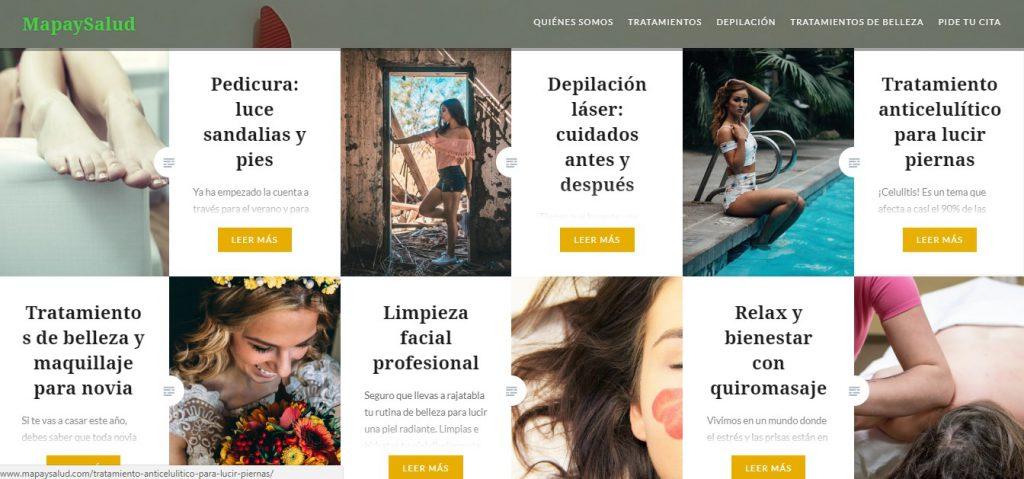 centro de belleza Madrid campaña SEO