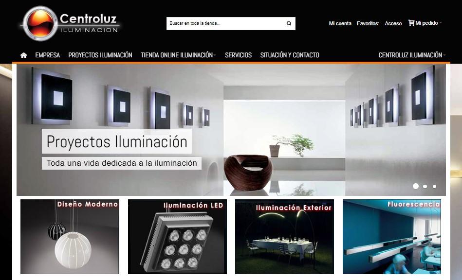 centroluz iluminacion tienda online lamparas