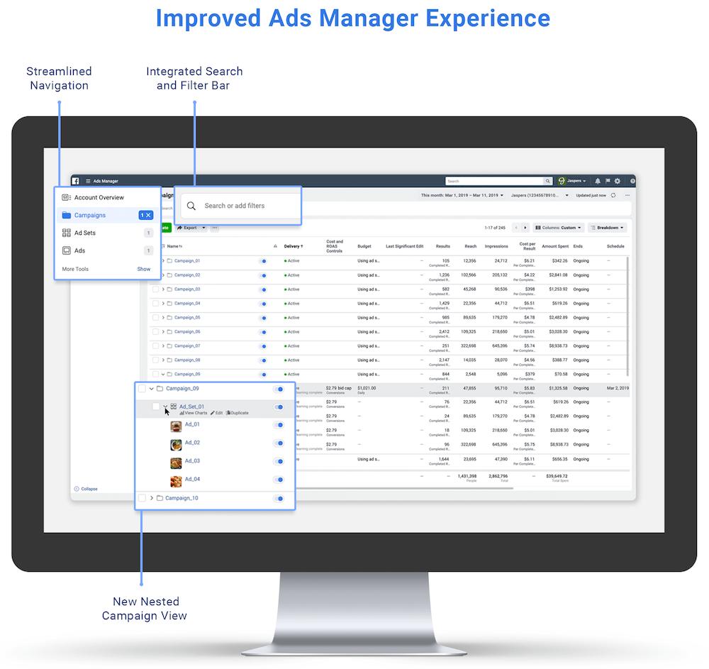 Novedades en Ads Manager