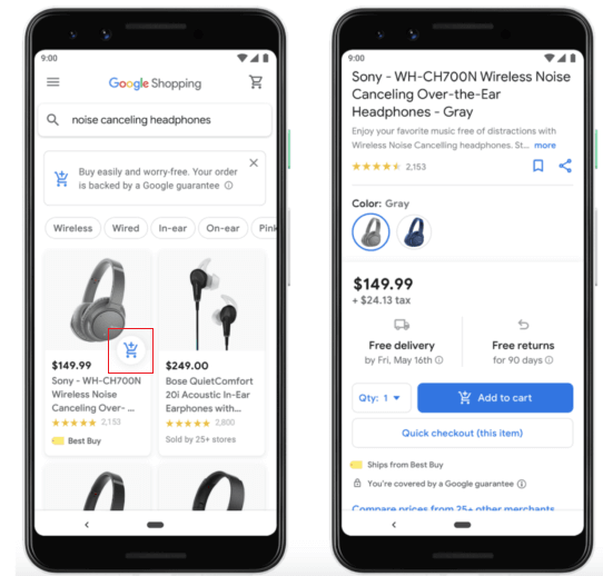 Google Shopping Experience